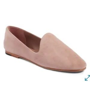 Vince Vero Cucio Dusty Pink Leather Loafer